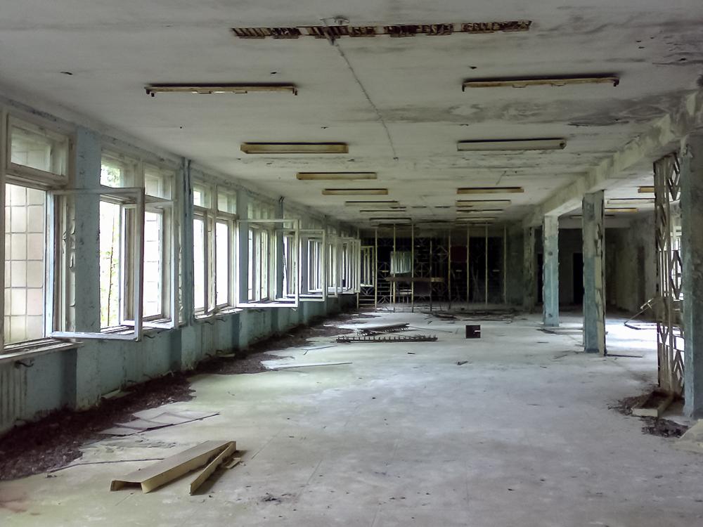 Koulun aula.