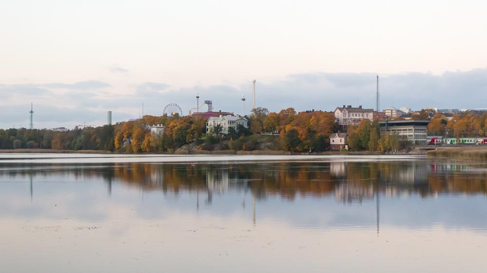 Ruskaa Helsingissä Töölönlahdella, lokakuu 2014.
